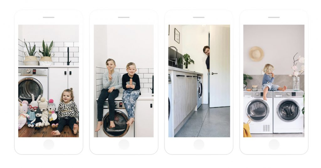 @fivelittlebirds (1,2), @eleanorozich (3), @loveandgingerhome (4). the social club fisher and paykel